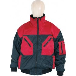 Pilotenjacken Prevent ® DK, zweifarbig Art-Nr.: 174ZA/11, schwarz/rot